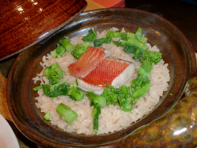 池尻おわんのブログ-金目鯛の炊き込みご飯