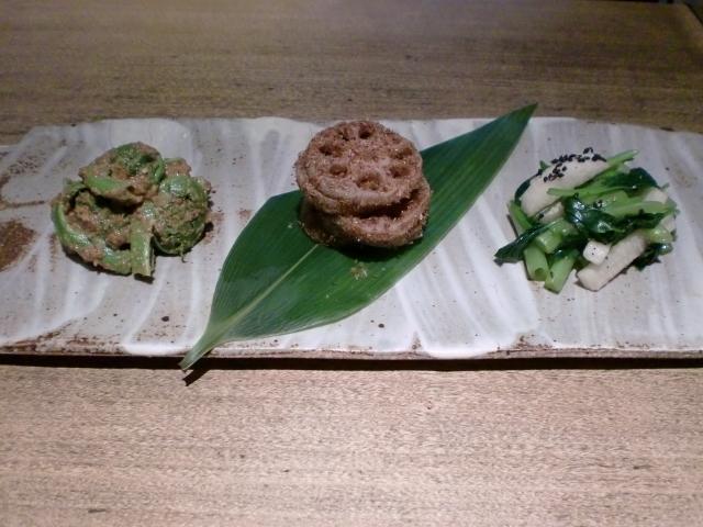 池尻おわんのブログ-弥生の旬菜三種盛り