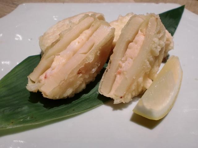 池尻おわんのブログ-筍と海老のはさみ揚げ