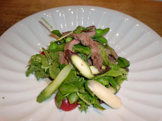 池尻おわんのブログ-三色アスパラのサラダ