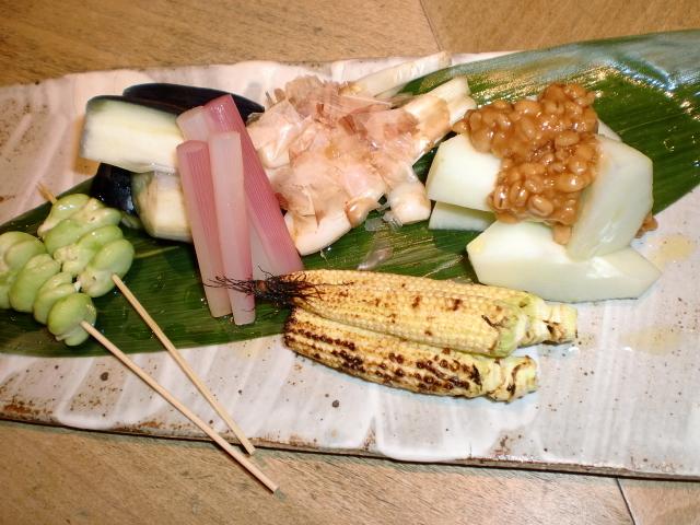 池尻おわんのブログ-夏野菜盛り合わせ