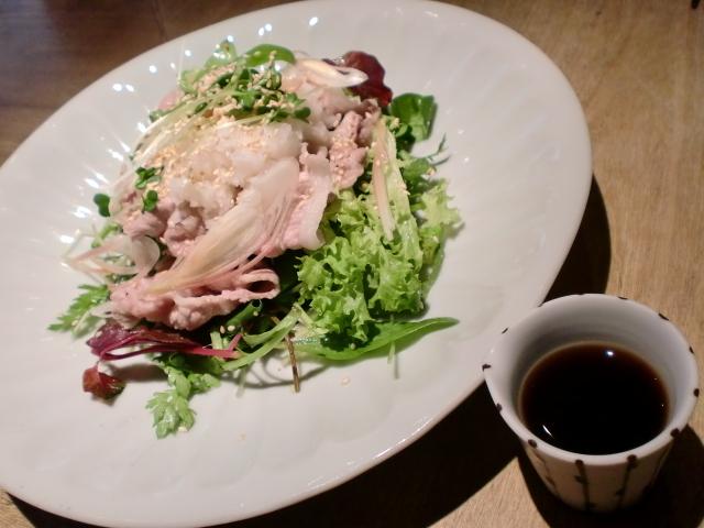 池尻おわんのブログ-豚しゃぶサラダ1