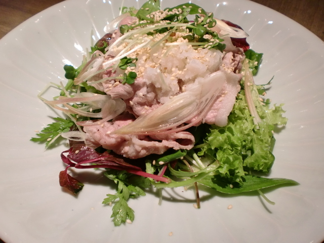 池尻おわんのブログ-豚しゃぶサラダ2