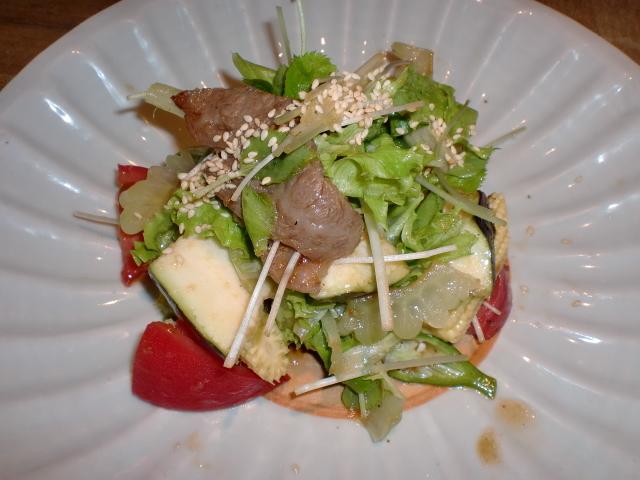 池尻おわんのブログ-焼肉サラダ