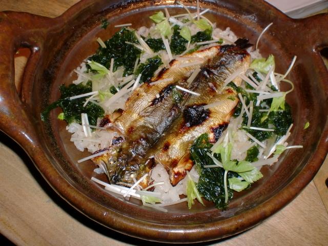 池尻おわんのブログ-鮎の炊き込み